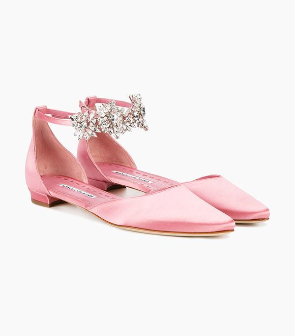 Pink Trend: Manolo Blahnik Sicariata Flats