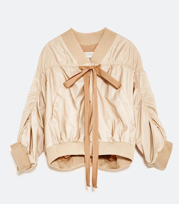 Pink Trend: Zara Studio Cropped Bomber