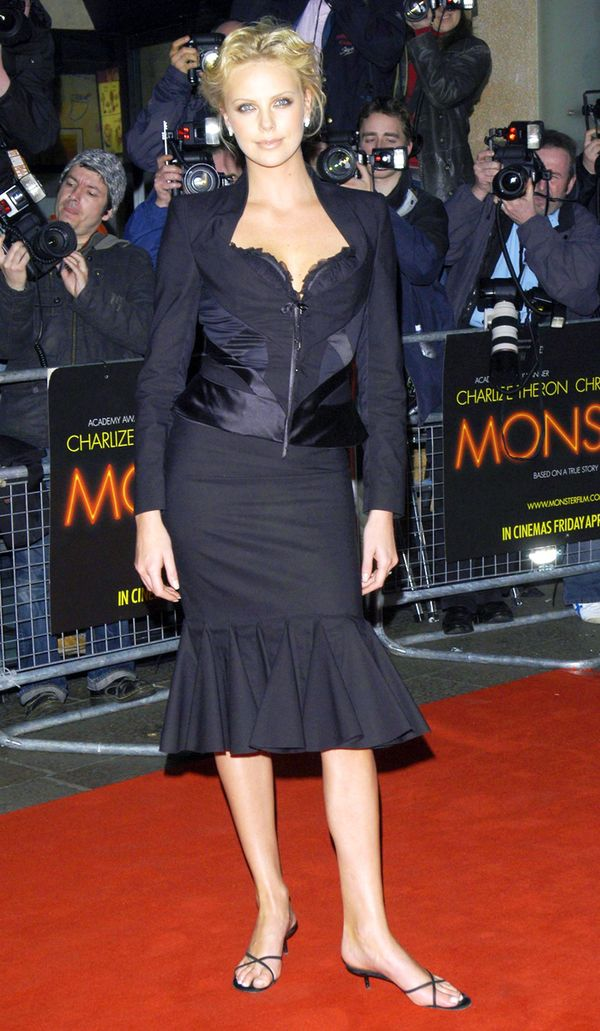 Worst fashion trends: Charlize Theron in kitten heels