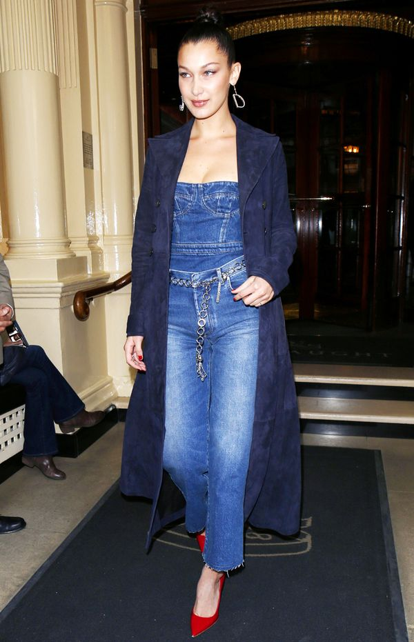 Worst fashion trends:  Bella Hadid denim