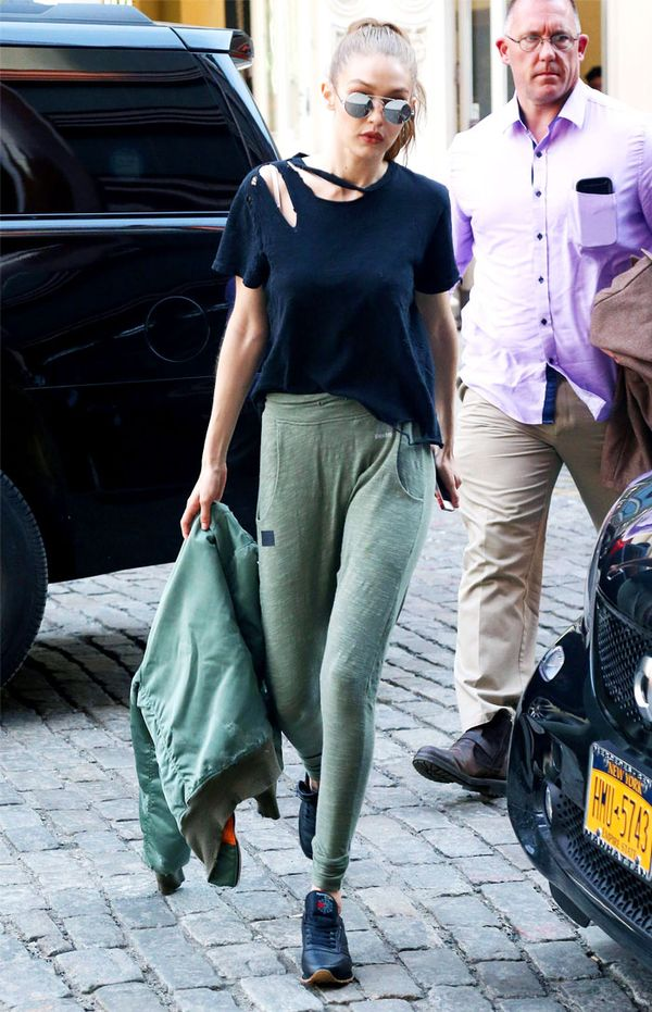 Worst fashion trends: Gigi Hadid in trainers