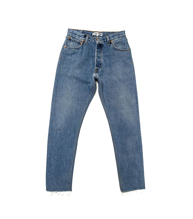 best vintage Levi's- Re/done high rise ankle crop jeans