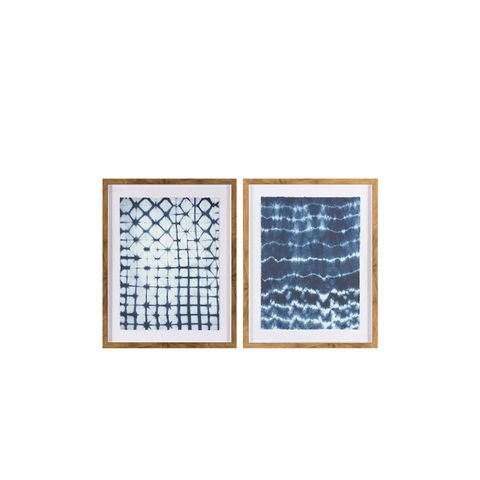 Framed Pattern Abstract Blue