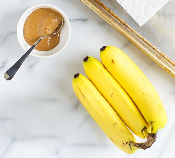 Best pre-workout snacks: peanut butter and banana