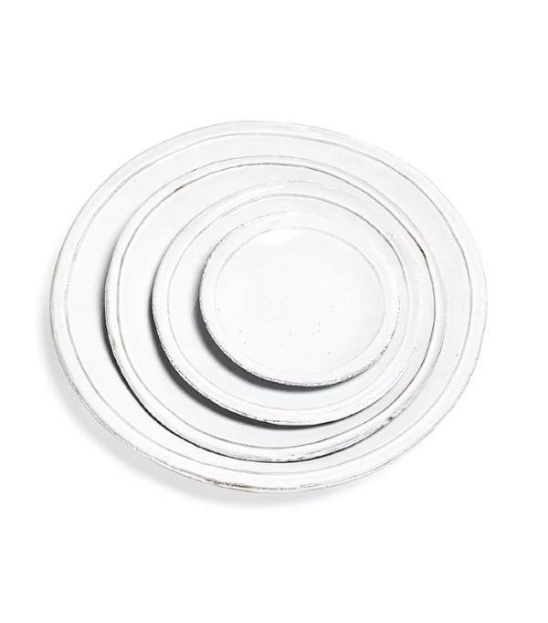Easter table settings — white dinner plates