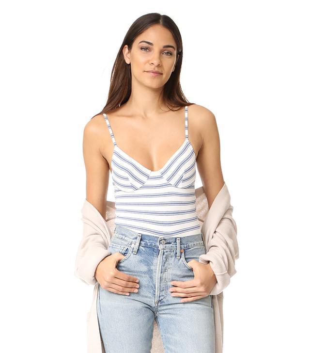 Only Hearts Stripe Underwire Bodysuit