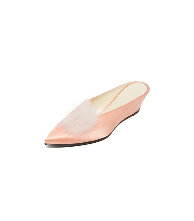 Trademark Castainge Slides with Marabou Feathers