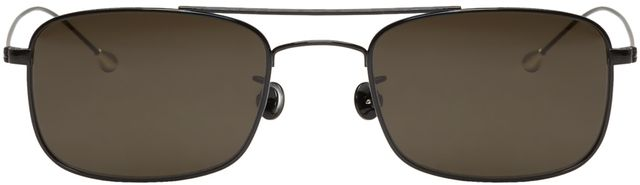 Ann Demeulemeester Black Rectangular Sunglasses