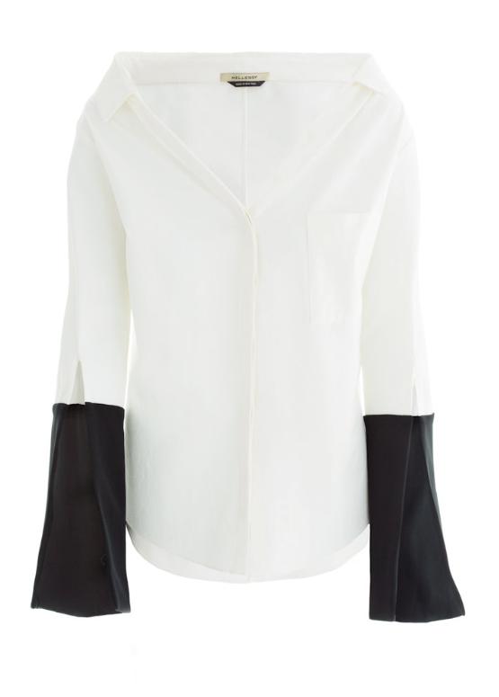 off shoulder collared shirt - Hellessy The Bessette Collar Shirt