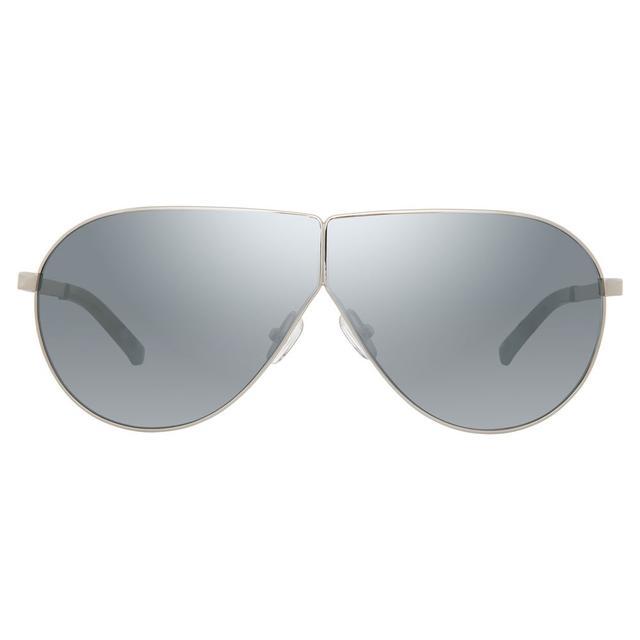 blue silver aviators - Linda Farrow 3.1 Phillip Lim 171 C4 Aviator Sunglasses