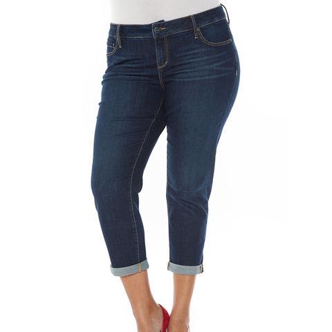 Roll Crop Boyfriend Jeans