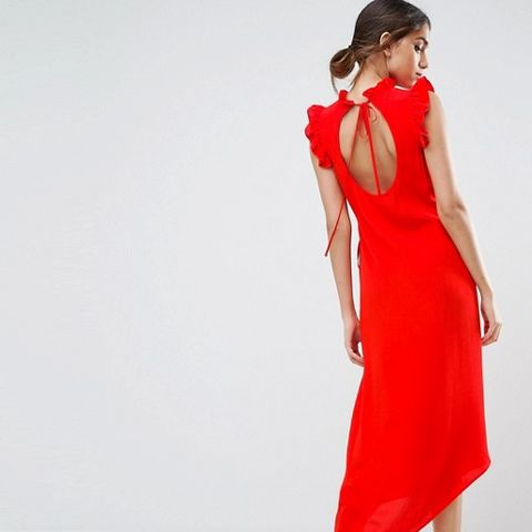 Sleeveless Maxi Tea Dress With Cut Out Back