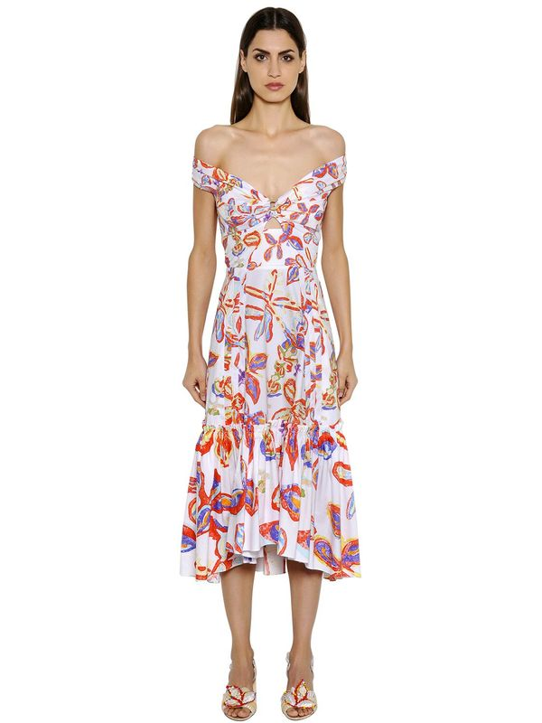 Peter Pilotto Printed Cotton Twill Dress