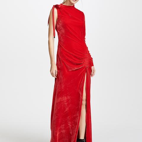 Velvet Drawstring Gown