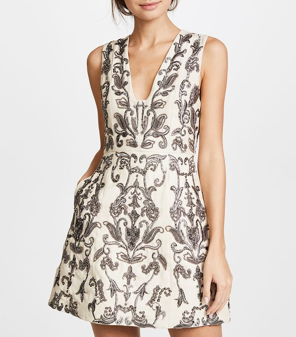Alice + Olivia Prescilla Embellished Dress