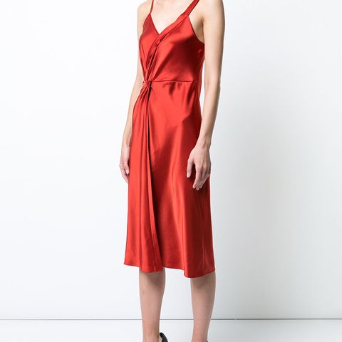 Wrap Effect Cocktail Dress