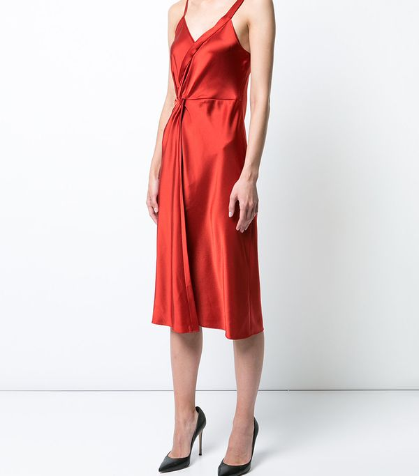 T by Alexander Wang Wrap Effect Cocktail Dress