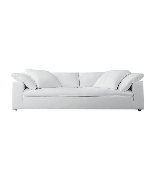 Restoration Hardware Petite Cloud Track Arm Fabric Sofa