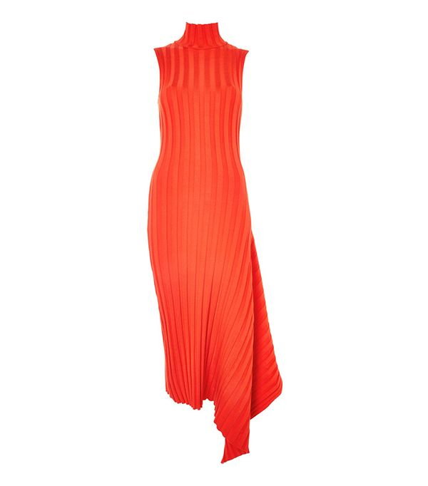 Topshop Asymmetric Ribbed Dress by Boutique