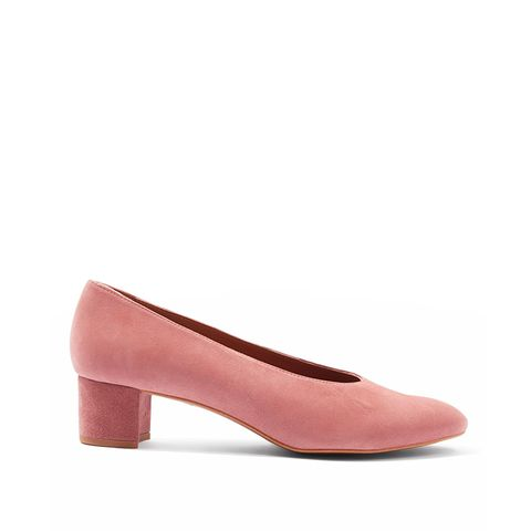 Jury Mid-Heel V-Cut Court Shoes