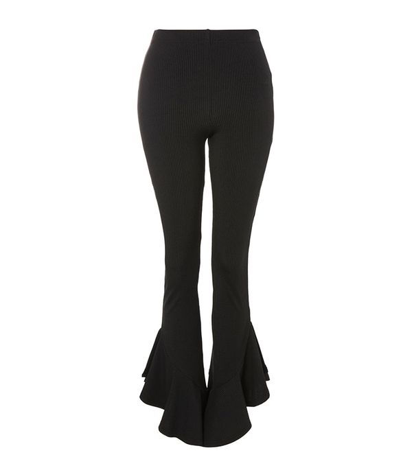 Topshop Mermaid Frill Flare Trousers