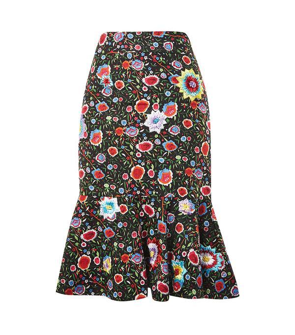 Topshop Ruffle Midi Skirt by Prints by Mochi