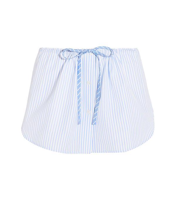 Alexander Wang Striped Cotton Shorts