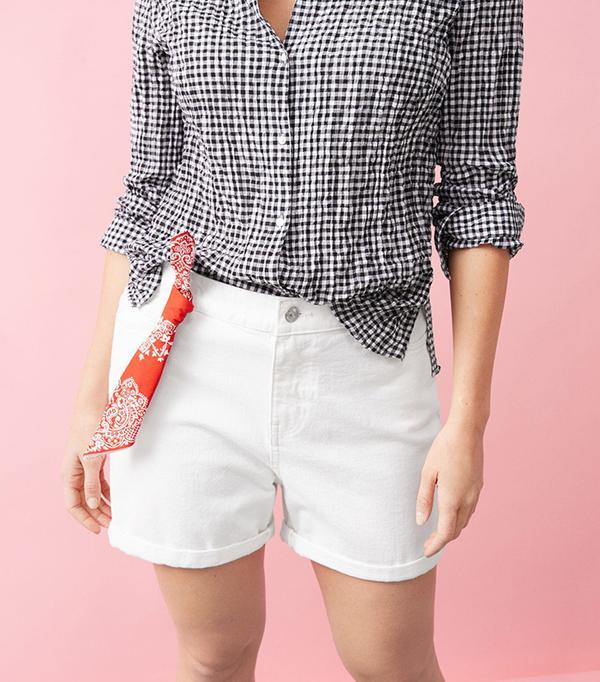 Violeta White Denim Shorts