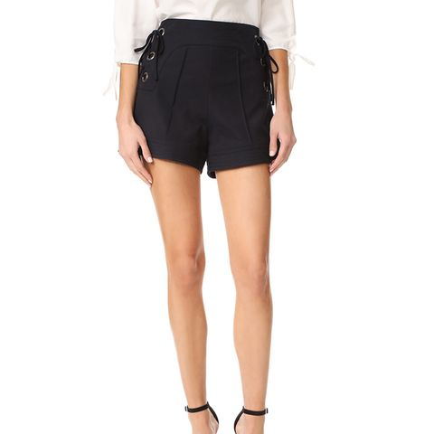 Marie Lace Up Shorts