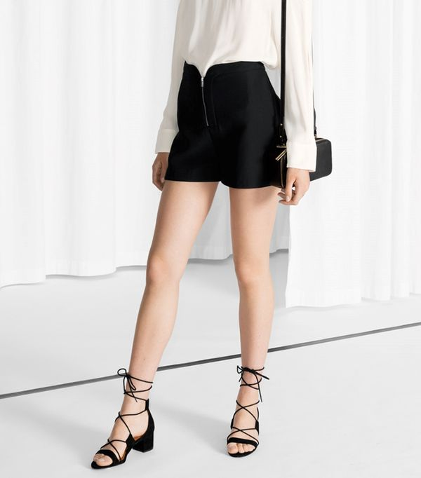 & Other Stories Round Edge Shorts