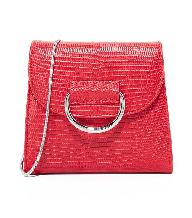 best affordable red bag- little liffner tiny d box bag