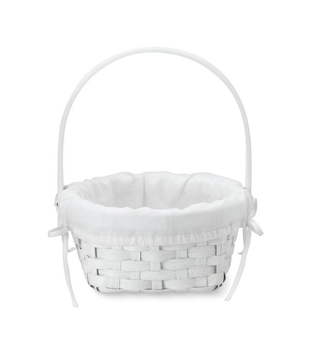Williams-Sonoma White Rattan Easter Basket