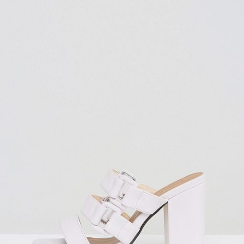 Buckle Strappy Heeled Mules
