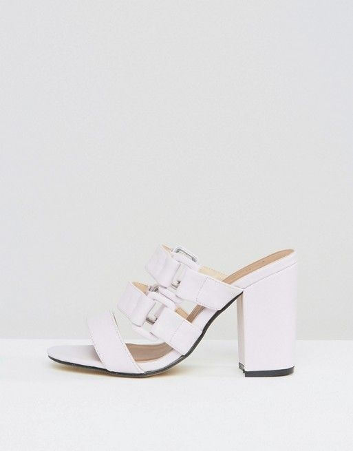 Asos Buckle Strappy i Heeled Mules