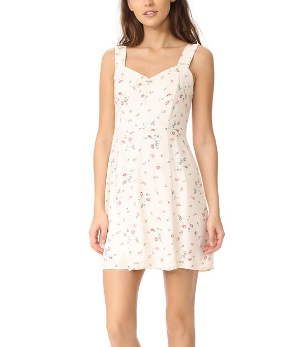 best white mini dress- WAYF Hannah A-Line Mini Dress