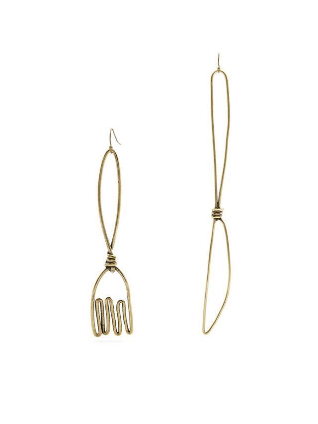 Rosie Assoulin Fork and Knife-Drop Earrings