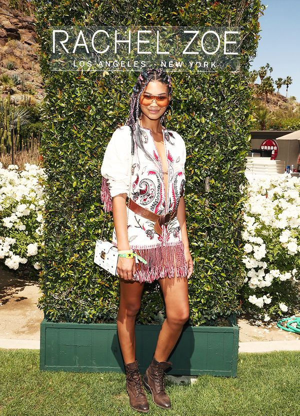 WHO: Chanel Iman At the Zoe Report's ZOEasis Style Retreat.