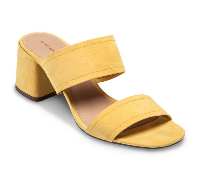 Who What Wear Double Band Block Heel Slide Sandals