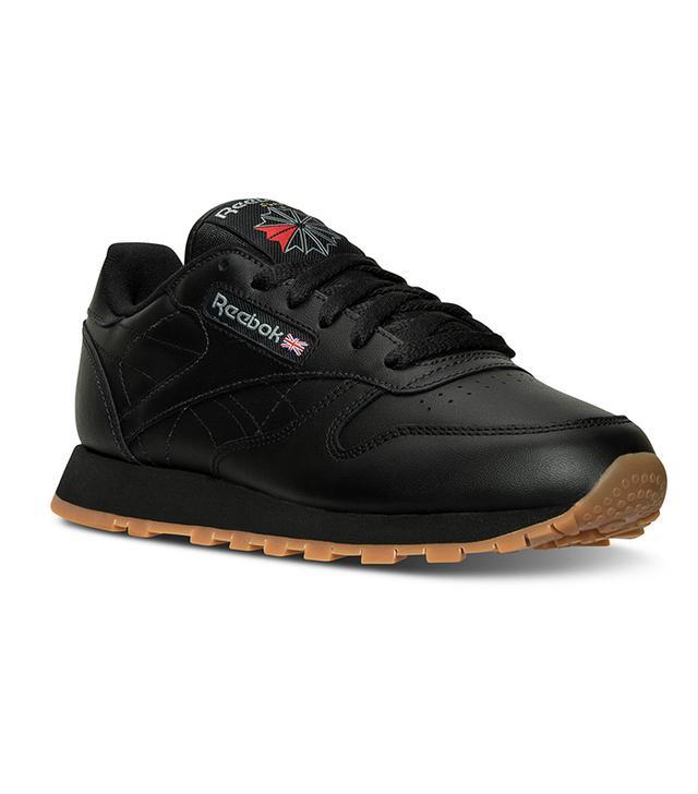 best black sneakers- reebok classic leather