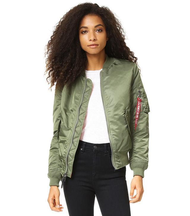 best bomber jacket- alpha industries