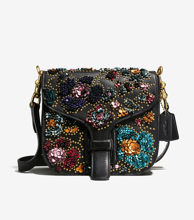Coach & Rodarte Courier Bag in Glovetanned Leather With Leather Sequins
