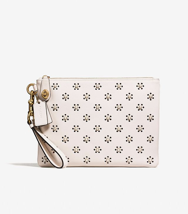 Coach & Rodarte Turnlock Wristlet 30 in Glovetanned Leather With Whipstitch Eyelet