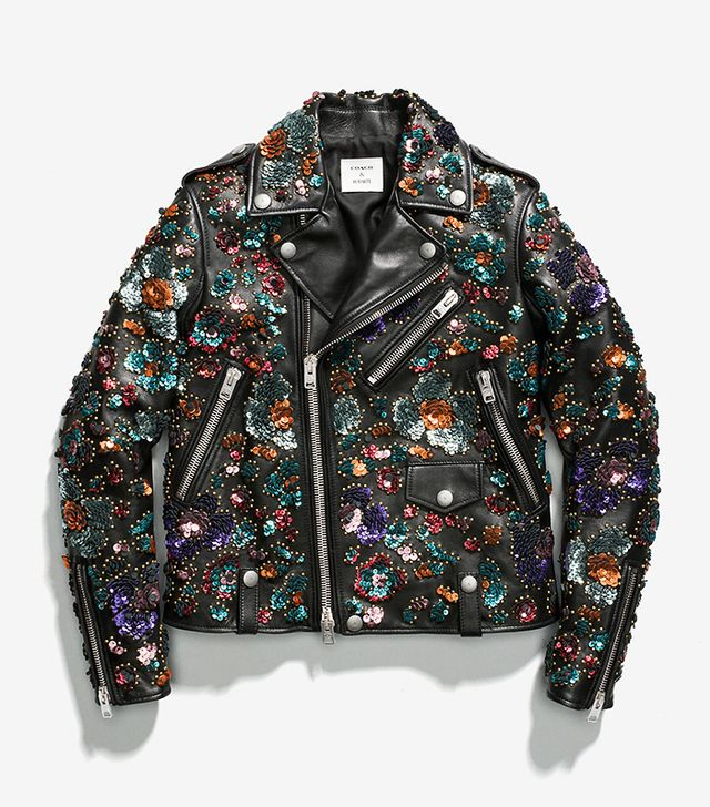 Coach & Rodarte Moto Jacket With Leather Sequins