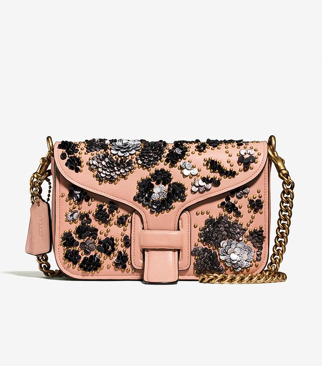 Coach & Rodarte Courier Crossbody in Glovetanned Leather With Leather Sequins