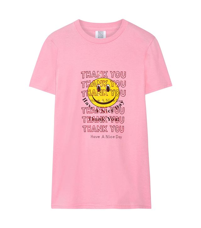 Rosie Assoulin Thank You Swarovski Crystal-Embellished Printed Cotton-Jersey T-Shirt