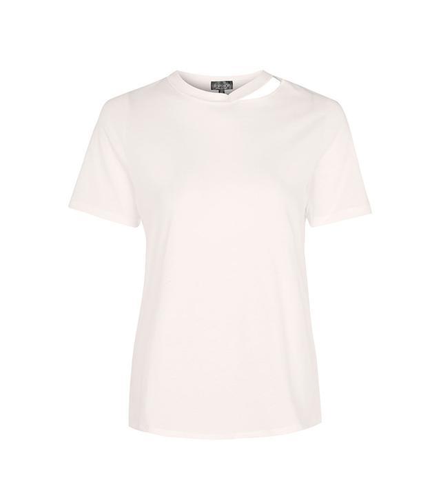 Topshop Choker Neck Slash T-Shirt