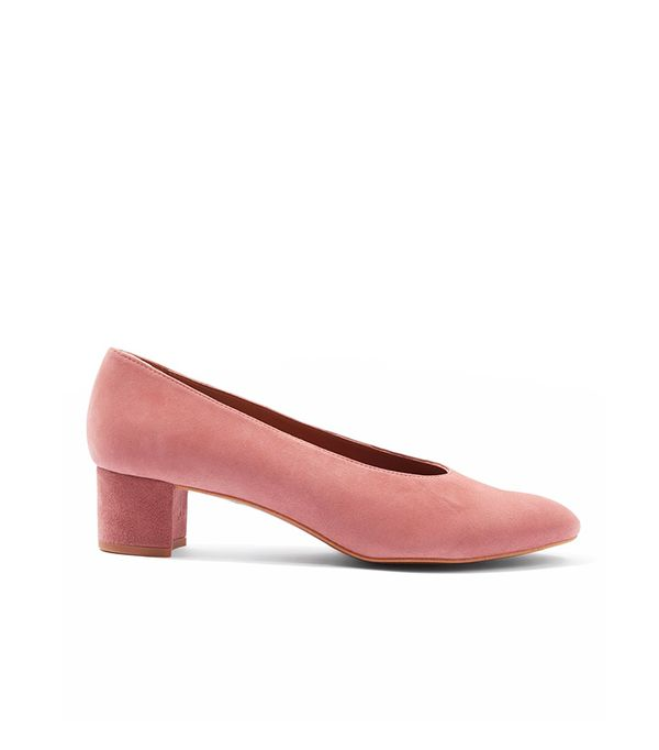 Topshop Jury Mid-Heel V-Cut Court Shoes