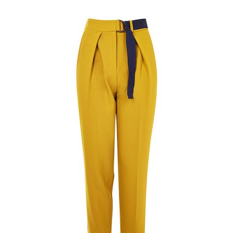 Webbed Belted Peg Trousers