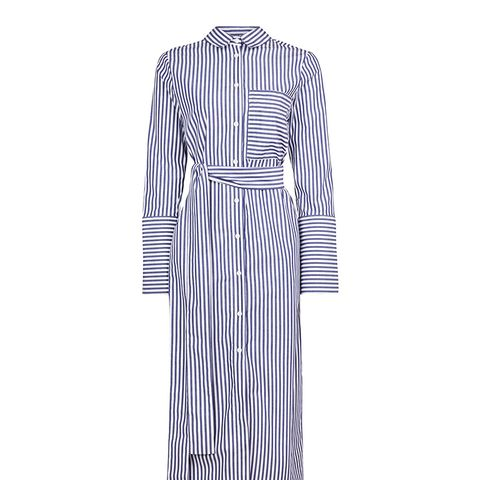 Stripe Shirt Dress by Boutique