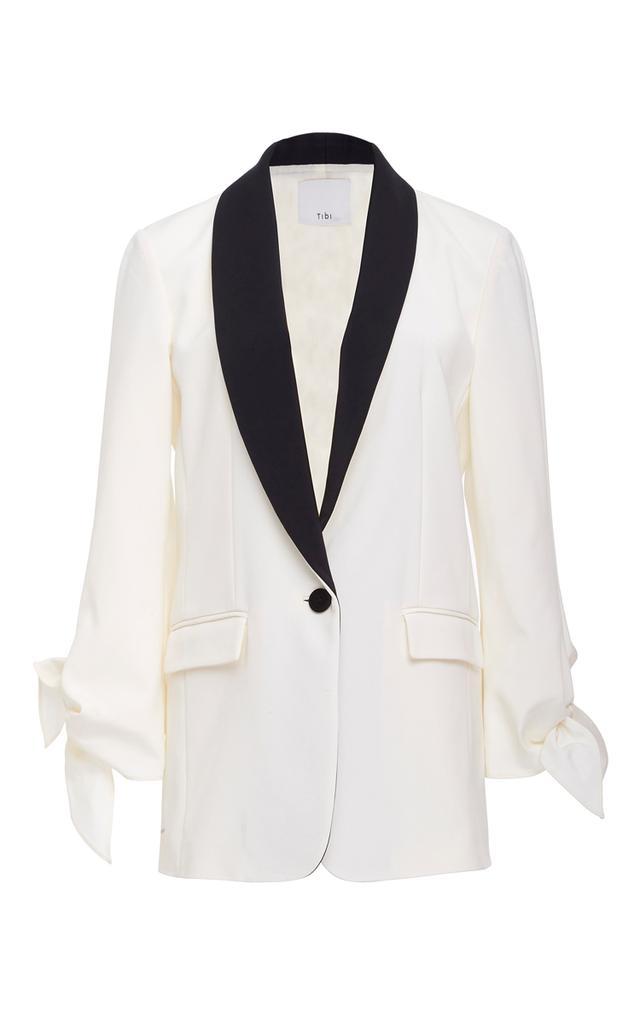 Tibi Tie Sleeve Tuxedo Jacket